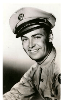 Ladd served briefly in the Army during World War II but a double hernia cut his service short