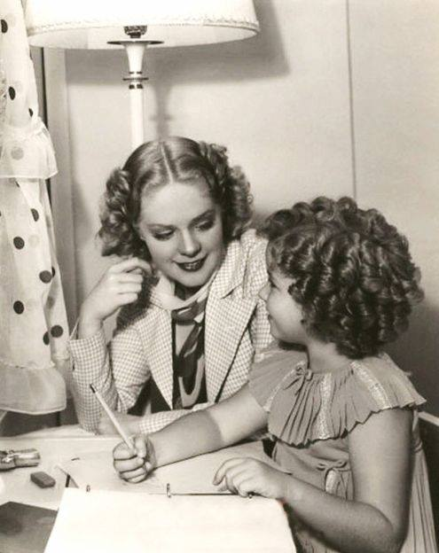 Alice Faye and Shirley Temple