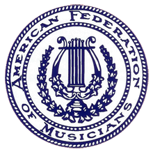 The seal of the American Federation of Musicians