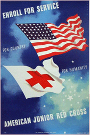 Special Red Cross programs and promotional bumpers were regularly heard before, during and well after the World War II years