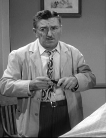 Howard McNear as Floyd the Barber in The Andy Griffith Show circa 1962
