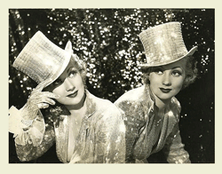 Joan Bennett and Ann Sothern in publicity still from 1938's Tradewinds