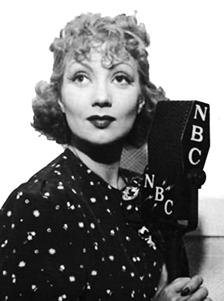 Ann Sothern circa 1936 over NBC
