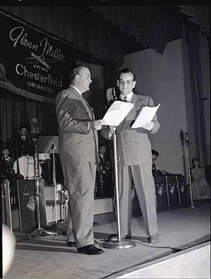 Announcer Don Wilson left with Glenn Miller.
