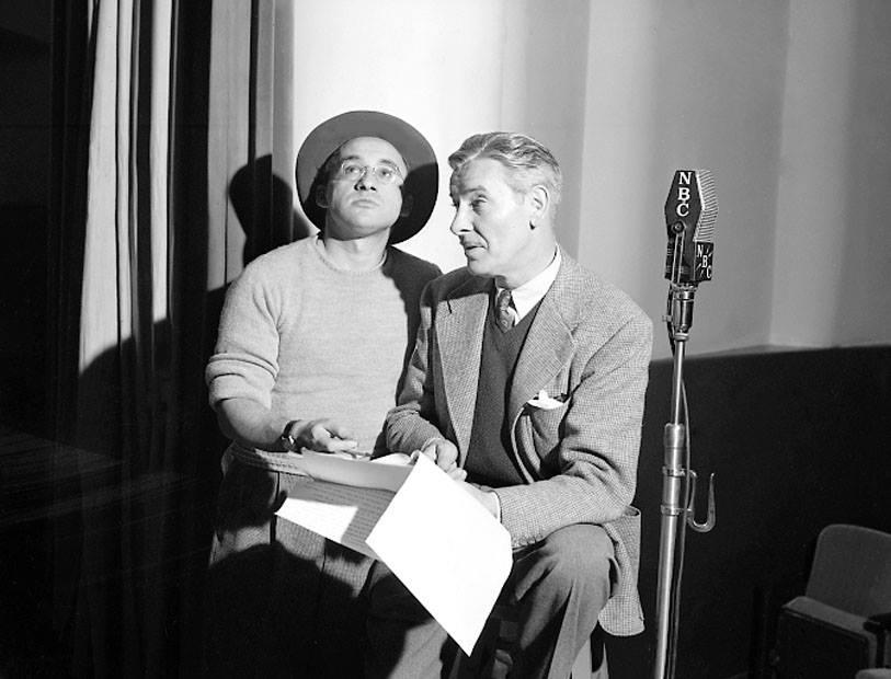 Arch Oboler and Ronald Colman