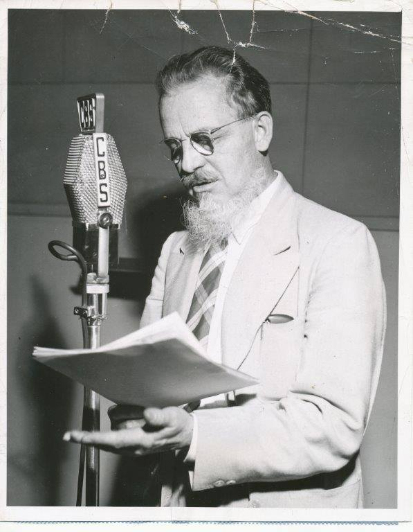 Author Rex Stout, creator of Nero Wolfe