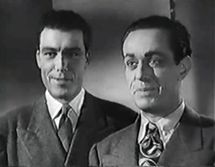 Barton Yarborough as Doc Long with Jim Bannon as Jack Packard in I Love A Mystery (1945)