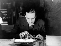 Rathbone examines a clue in The Bishop Murder Case