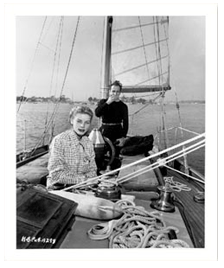 Bogie and Betty Bogart bought their beloved schooner, Santana, from Dick Powell and June Allyson in 1945