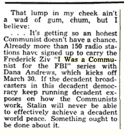 Follow up to Billboard article above from January 26 1952