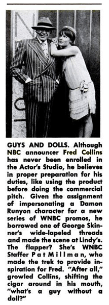 Fred Collins mugs for a series of WNBC promos for Billboard Magazine from November 7 1964