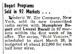 Billboard Magazine article from January 20 1951