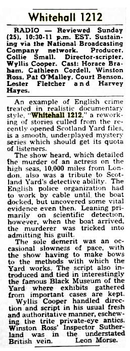 Whitehall 1212