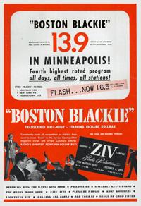 Ziv Billboard broadside for Boston Blackie from April 14 1947