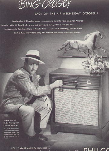 Bing Crosby Philco Radio Time