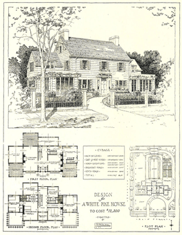 'White Pine' stock house plan from Mr. Blandings Builds His Dream House