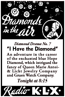 'Diamonds in the Air' spot for the episode 'I Have the Diamond' from March 5 1935