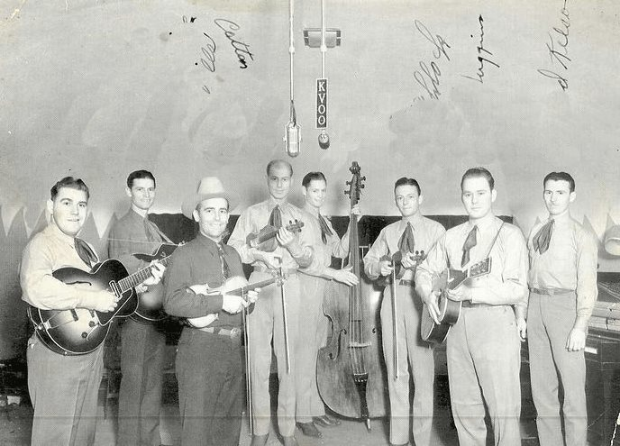 Bob Wills and The Texas Playboys in the 40s - Bob was one of the tops in Western Swing and his radio and live shows were full of fun for those who liked to dance to Western Swing.