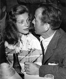 Bacall and Bogie before beginning their great romance, ca. 1942