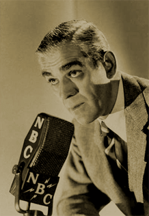 Boris Karloff at NBC mike, ca. 1947