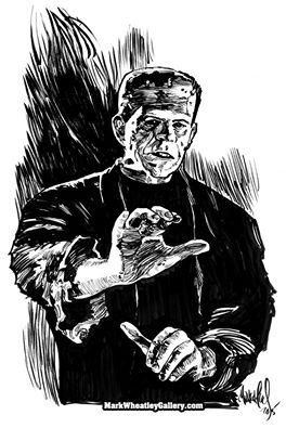 Boris Karloff as The Monster.