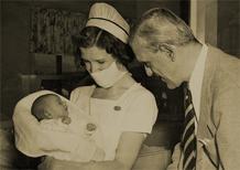 Karloff welcomes daughter Sara to the world, Nov. 23, 1938