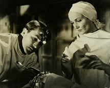 Aherne with Carole Lombard in Vigil In the Night (1940)