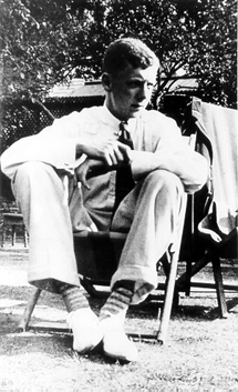 Benjamin Britten at Gresham's School circa 1929