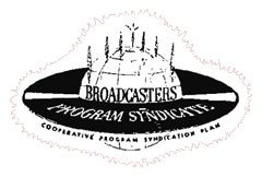Logo of Bruce Eells Associates' Broadcasters Program Syndicate as of 1948