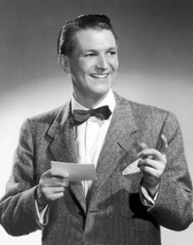 The Bud Collyer most people remember--as TV Game Show host and spokesperson, ca. 1954