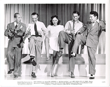 Burgess Meredith with Fred Astaire, Paulette Goddard, and Artie Shaw