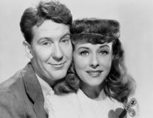 Burgess Meredith with wife Paulette Goddard circa 1948