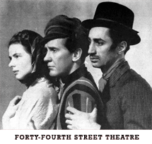 Burgess Meredith with Ingrid Bergman at the Forty-Fourth Street Theatre