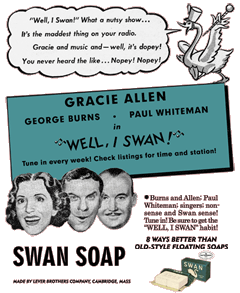 Newspaper spot ad for Well I Swan from October 1941