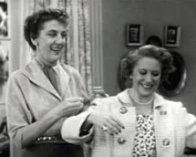 Elvia Allman as Jane Adams appears with Gracie Allen in The Burns and Allen Program (1952)