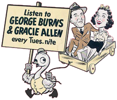 Swan's caricatures of the swan and Burns and Allen could be found in all the print media of the era.