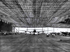 Security was very serious business at the Lockheed and Vega Plant in Burbank. Note the heavy use of camouflage netting above the taxiway.