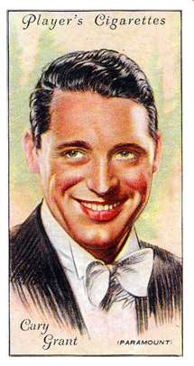 Cary Grant Players Cigarette card from 1931