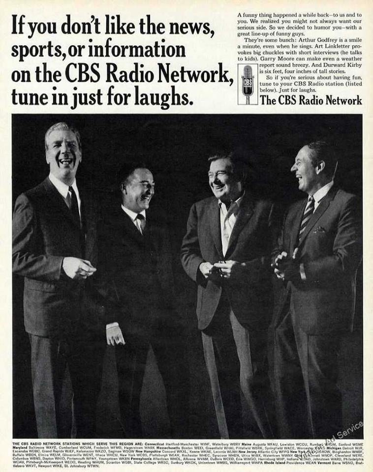 1966 ad for the CBS Radio Network