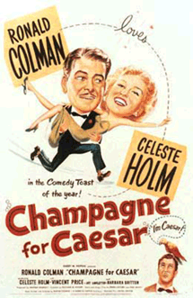 Ronald Colman in Champagne for Caesar with Celeste Holm and Vincent Price (1950)