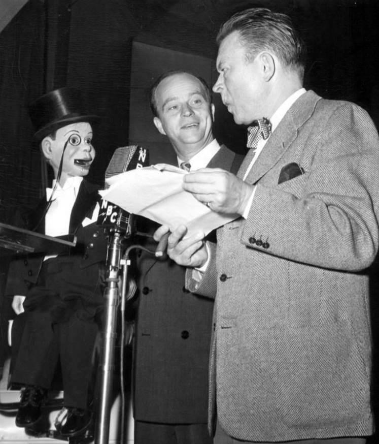 Charlie McCarthy, Edgar Bergen, and Fred Allen