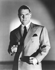 Chester Morris in a Boston Blackie pose circa 1943