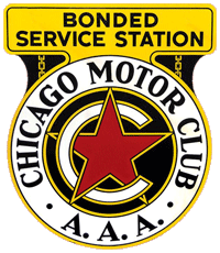 Chicago Motor Club Bonded Service Station Sign