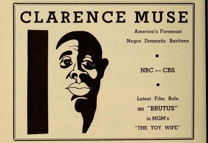 Actor Clarence Muse  (Jack And Johnny Are In Jail) (Jack And Johnny Green In Jail)