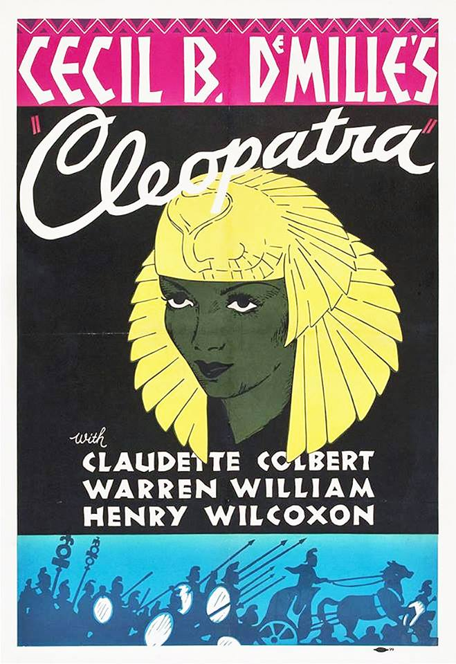 Claudette Colbert is Cleopatra