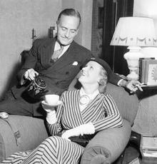 Claudia Morgan with her father Ralph Morgan, ca. 1938
