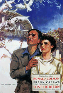 Ronald Colman and Jane Wyatt in Frank Capra's Lost Horizon (1937. Poster illustration by James Montgomery Flagg of 'Uncle Sam' illustration fame.