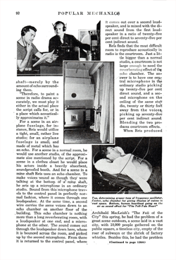 1938 Popular Mechanics article on Columbia Workshop page 2