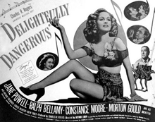 Constance Moore promoting 1945's Delightfully Dangerous