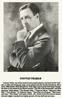 Conway Tearle fan card from 1921